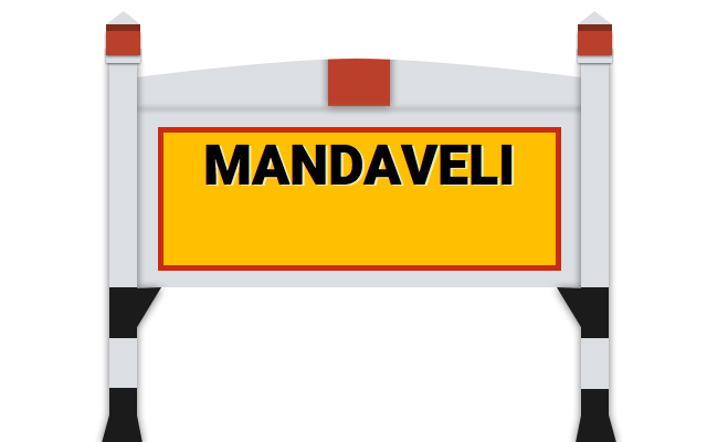 Mandaveli Railway Station (MNDY) : Station Code, Time Table, Map ...