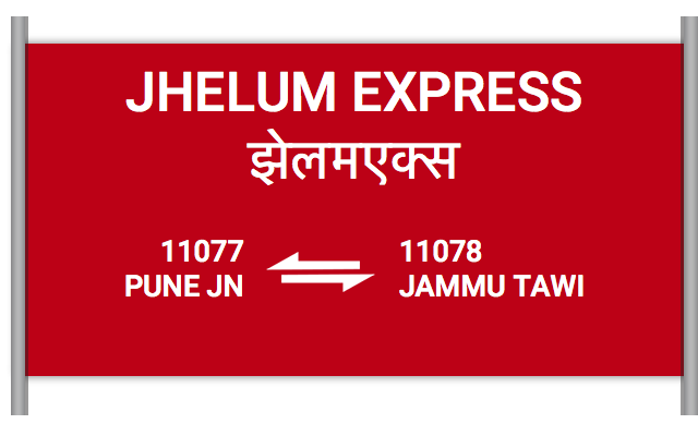 JHELUM EXPRESS (11077) Route, Time Table, Schedule