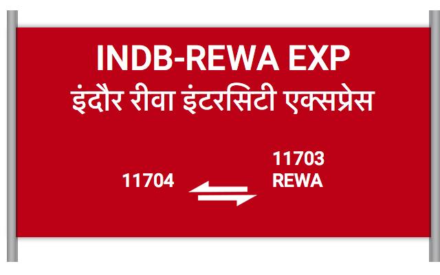 INDB-REWA EXP - 11704 Train Schedule