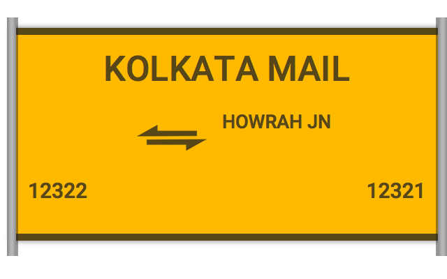 KOLKATA MAIL (12322) Route, Time Table, Schedule