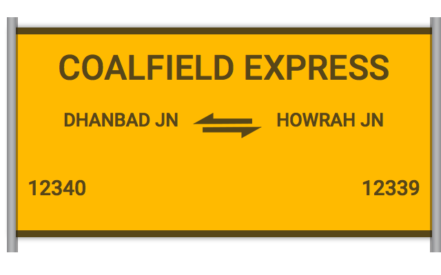 COALFIELD EXPRESS (12340) Route, Time Table, Schedule