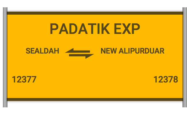PADATIK EXP (12377) Route, Time Table, Schedule