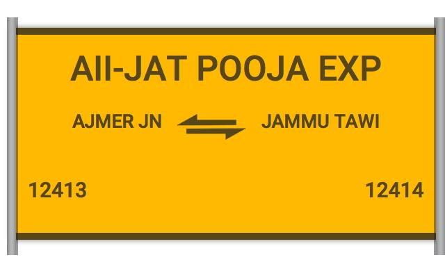 12413 Aii Jat Express - Ajmer to Jammu Tawi : Train Number