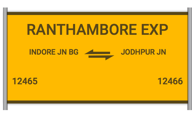 RANTHAMBORE EXP (12465) Route, Time Table, Schedule