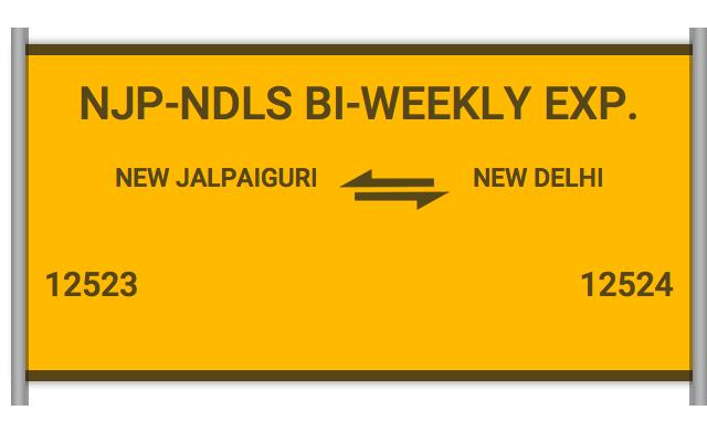 12523 Njp Ndls Express - New Jalpaiguri to New Delhi : Train Number