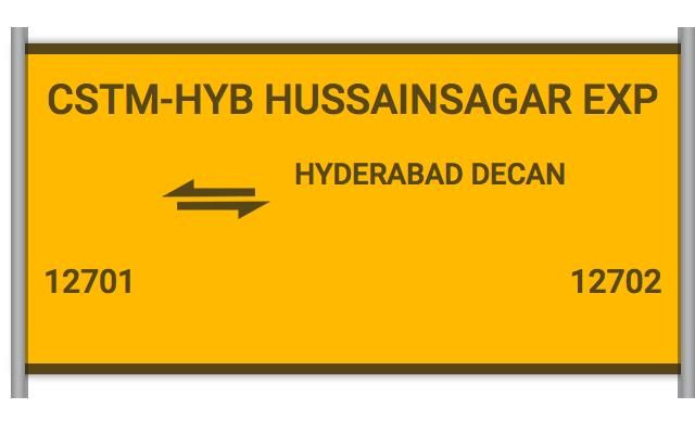 HUSAINSAGAR EXP - 12701 Train Schedule