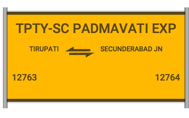 12763 Padmavathi Exp - Tirupati to Secunderabad Jn : Train