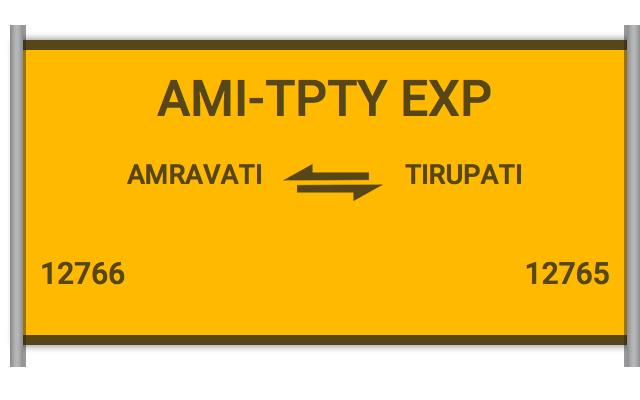 AMI-TPTY EXP - 12766 Train Schedule
