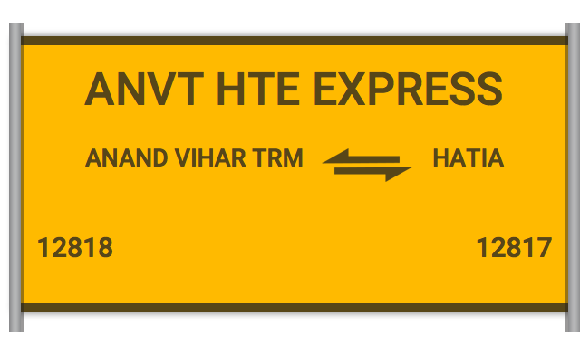 ANVT HTE EXPRESS (12818) Route, Time Table, Schedule