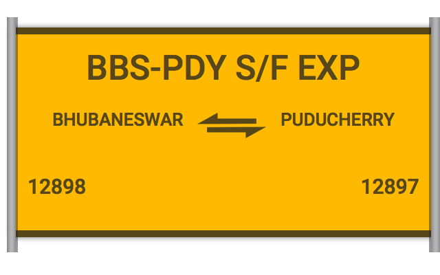 BBS-PDY S/F EXP - 12898 Train Schedule