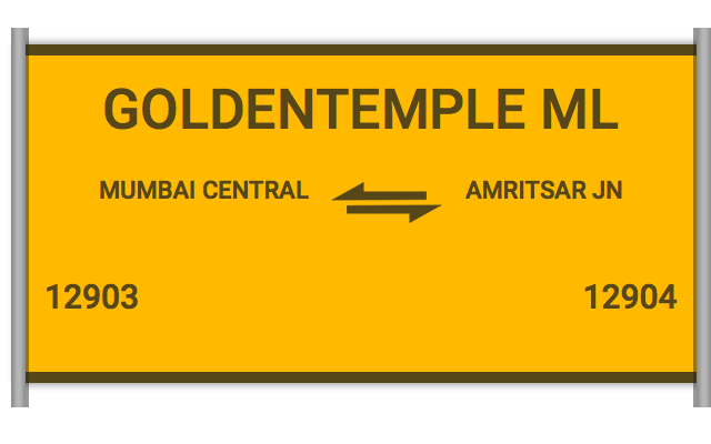 GOLDENTEMPLE ML (12903) Route, Time Table, Schedule