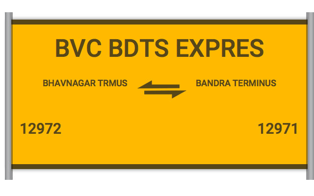 BVC BDTS EXPRES (12972) Route, Time Table, Schedule