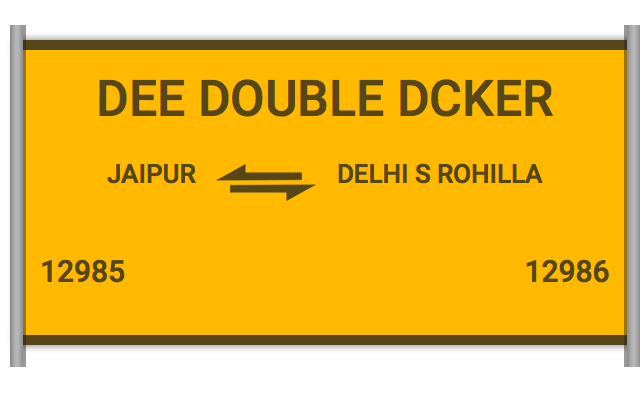 DEE DOUBLE DCKER (12985) Route, Time Table, Schedule