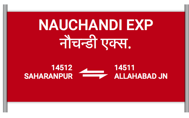 NAUCHANDI EXP (14512) Route, Time Table, Schedule