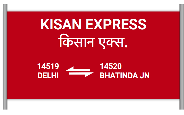 KISAN EXPRESS (14519) Route, Time Table, Schedule