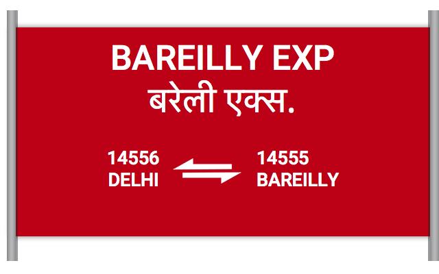 BAREILLY EXP - 14556 Train Schedule