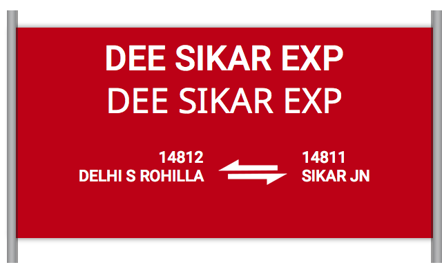 DEE SIKAR EXP (14812) Route, Time Table, Schedule