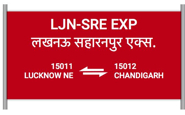 LJN-SRE EXP - 15011 Train Schedule