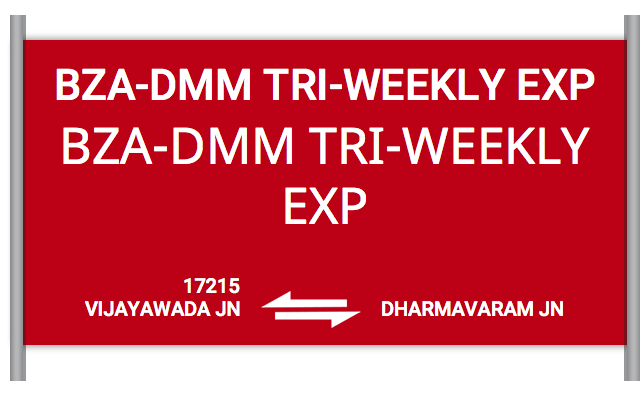 BZA-DMM TRI-WEEKLY EXP - 17215 Train Schedule