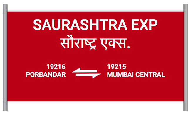SAURASHTRA EXP (19216) Route, Time Table, Schedule