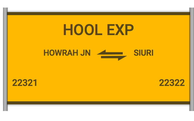 HOOL EXP (22321) Route, Time Table, Schedule
