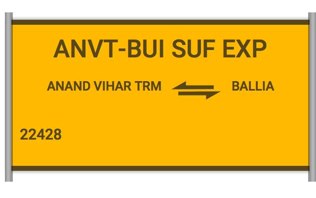 ANVT BUI SF EXP - 22428 Train Schedule