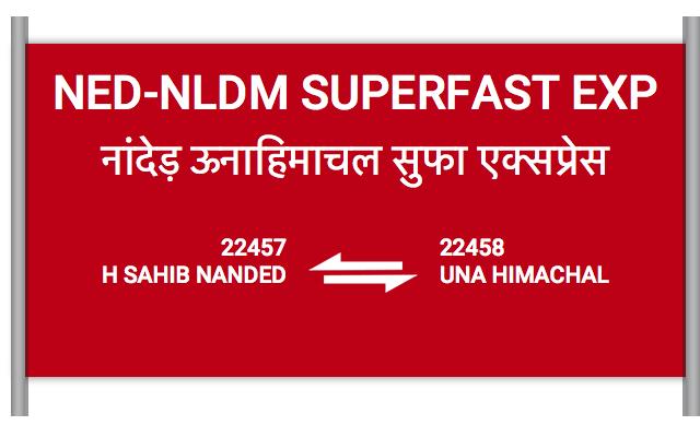 NED-NLDM SUPERFAST EXP - 22457 Train Schedule