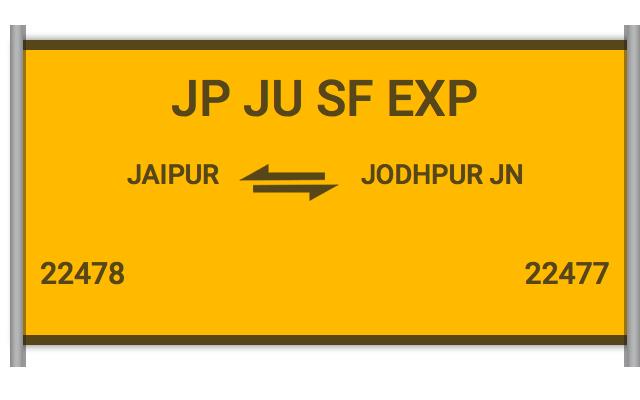 JP JU SF EXP - 22478 Train Schedule