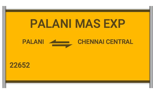22652 Pgt Mas Express - Palakkad Jn to Chennai Central
