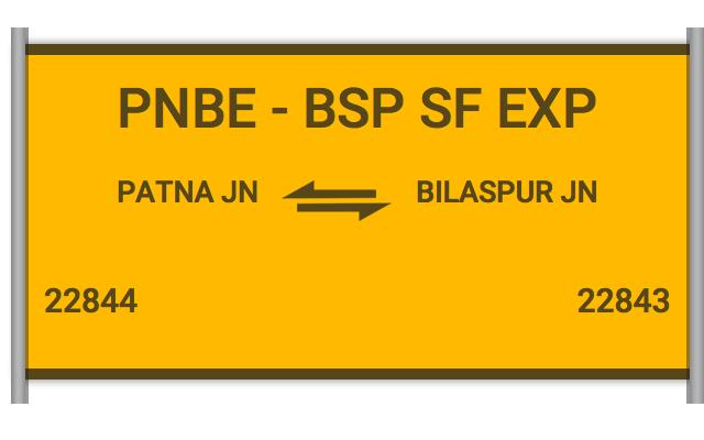 PNBE BSP SF EXP - 22844 Train Schedule