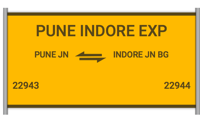 PUNE INDORE EXP (22943) Route, Time Table, Schedule