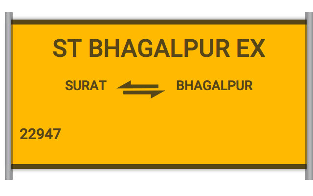 ST BHAGALPUR EX (22947) Route, Time Table, Schedule